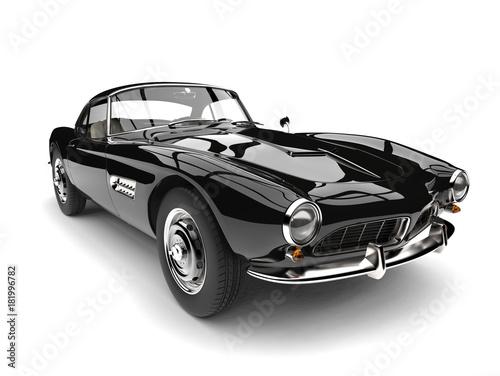 Foto op Canvas Snelle auto s Amazing black vintage race car - closeup shot