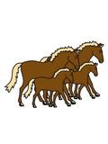 herde viele 2 paar pärchen liebe kinder baby kind junges mama papa familie laufen gehen pferd pony reiten schnell pferdchen klein spaß schnell comic cartoon reiter schön süß niedlich