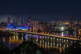 Night panorama to residential areas of a big city