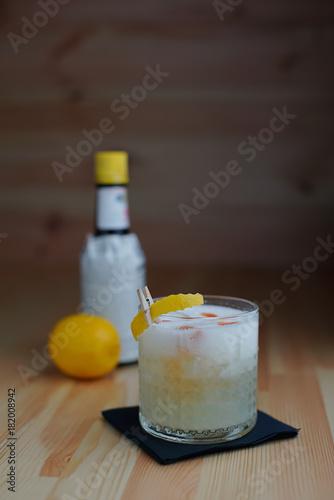 Vodka Sour in Rocks Glass Poster
