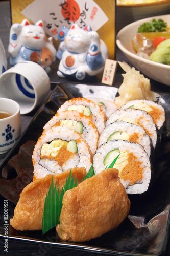 Keuken foto achterwand Sushi bar Delicious Japanese food - Japanese Sushi rolls