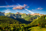 Sunset in Tatras in Poland at summer, Europe