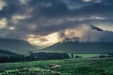 Before sunrise over the foggy mountains of Glencoe, Scotland - 182023378
