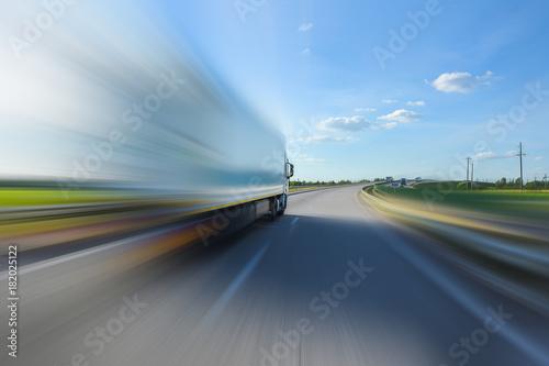 obraz PCV Track in motion blur