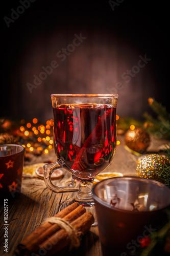 Fototapeta Christmas mulled wine