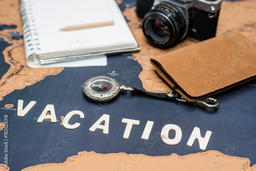 trip planning with 'vacation' word