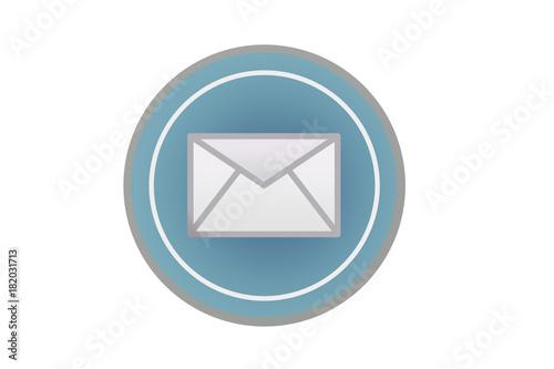 Icono de correo electrónico azul