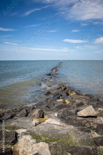 Aluminium Noordzee Steinstrand an der Nordsee