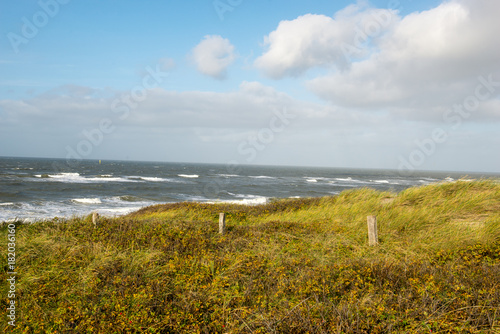 Poster Blauw Insel Sylt Nordsee