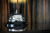 service bell on reception in hotel or restaurant - 182042384