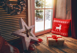 window decorated for holidays - 182051392