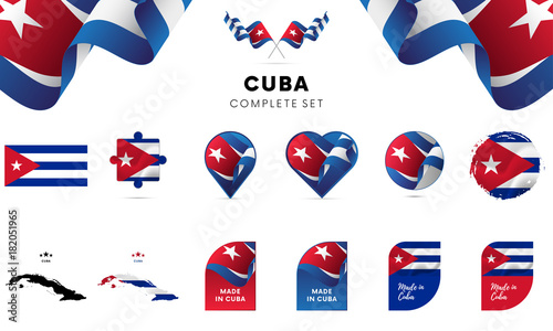 Cuba complete set. Vector illustration.