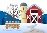 Winter farmland theme 2 - 182052962