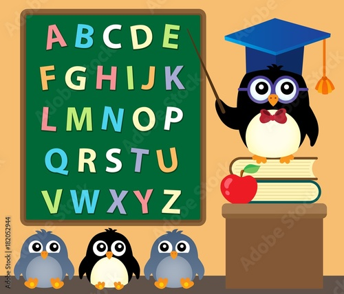 In de dag Voor kinderen School penguins theme image 3