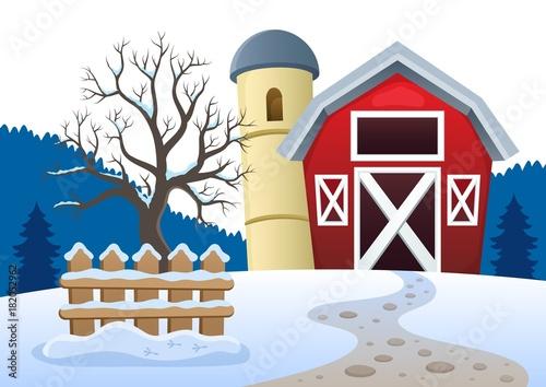Papiers peints Enfants Winter farmland theme 2