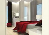 3D Render of Bedroom - 182054378