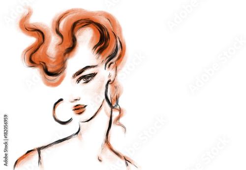 young woman. fashion illustration