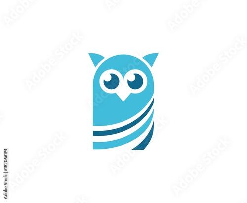 Plexiglas Uilen cartoon Owl logo