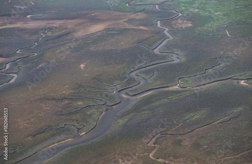 Keuken foto achterwand Noordzee Wattenmeer aus der Luft