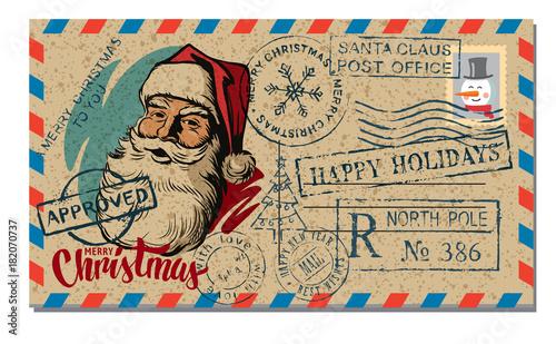 Christmas and New Year Postcard Wish.