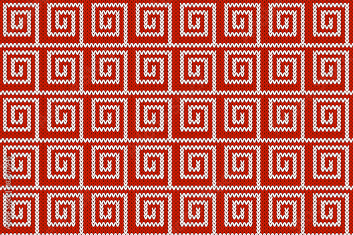 Square Ornamental Knitted Embroidery Pattern