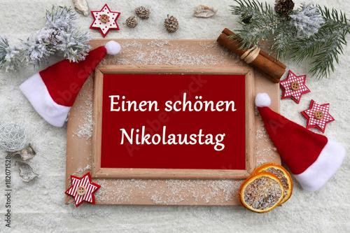 Fotobehang Hoogte schaal Einen schönen Nikolaustag