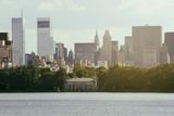 Beautiful New York skyline and glimpse of Chrysler Building - 182072378
