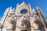 The Front of the Main Chruch of Siena, Italy - 182074317