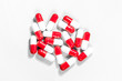 Red and White Capsules ( Pills )