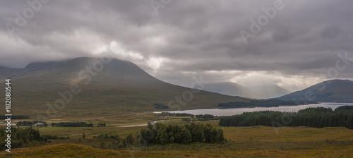 Aluminium Donkergrijs Scotland, UK. Mountains, Could, Landscape