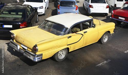 Poster Havana Old car in Havana. Cuba