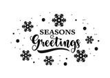 Seasons greetings calligraphy, vector design. - 182095547