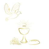 First communion symbols for a nice invitation design. - 182096585