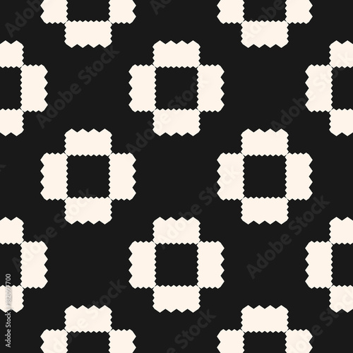 Vector abstract geometric pattern with jagged shapes. Ornamental ethnic motif