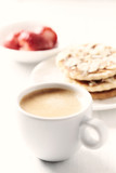 Cup of coffee with almond cookies - 182099188