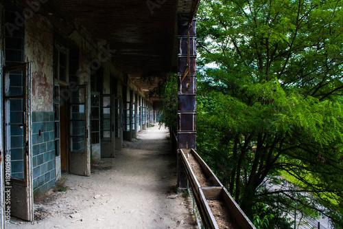Staande foto Smal steegje Abandoned Hospital