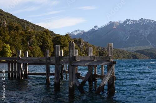 Plexiglas Pier Paseo por lagos de Bariloche