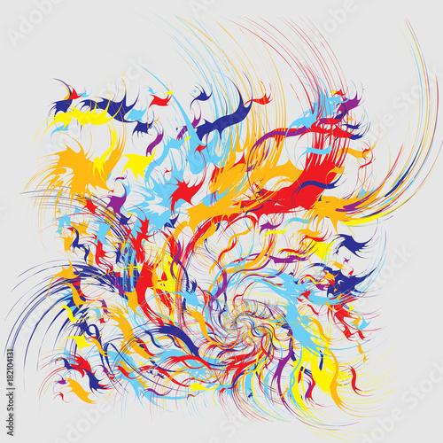 Fototapeta Paint Splashes Abstract Background