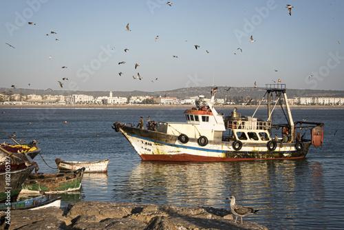 Papiers peints Maroc Fishing boat returning to harbour