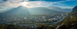 Panorama from La Bastille in Grenoble