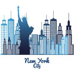 new york city statue of Liberty scene vector illustration design