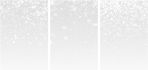 Three abstract winter backgrounds with snow.