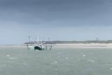 Krabbenfischer in der Nordsee bei der insel Langeoog