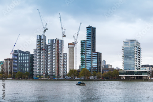 Poster London Cityscape of London, modern skyscrapers