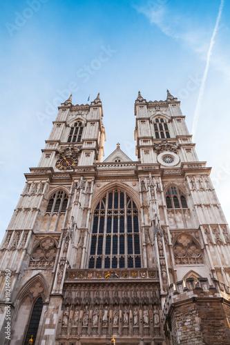 In de dag London London, Westminster Abbey main facade