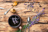 tea with lavender. - 182149511