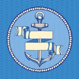 Decorative nautical emblem