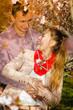 Quadro Happy couple having romantic date in park