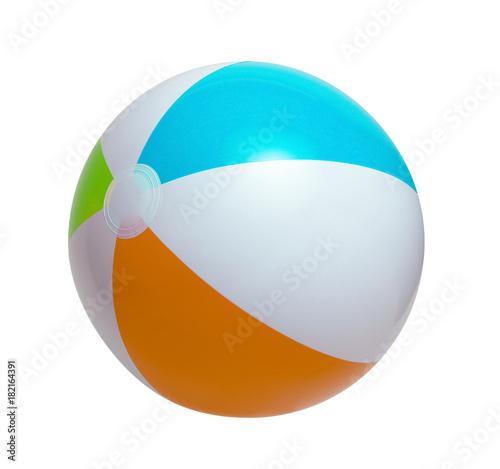 Foto op Plexiglas Bol Beach ball on a white