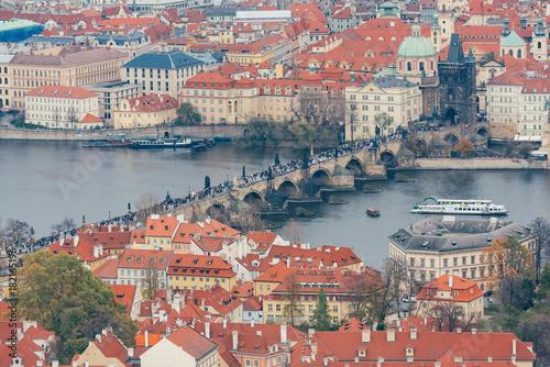 Deurstickers Praag Prag von oben